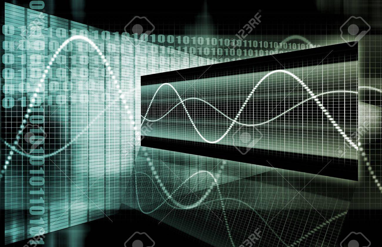 Blue Corporate Data Diagram as an Abstract Stock Photo - 6569425