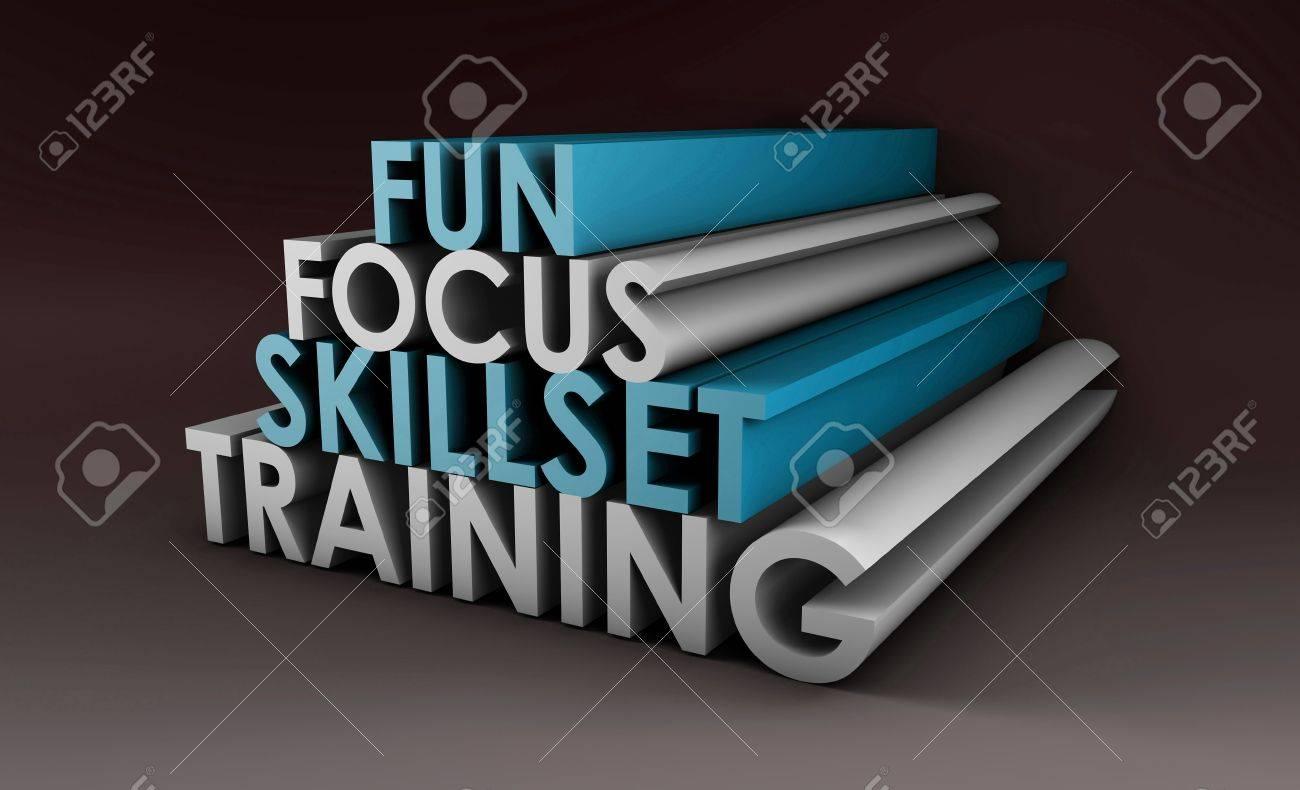 Training Course Focus on Skillset in 3d Stock Photo - 6600542