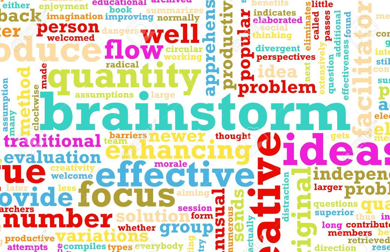 A Brainstorming Session Concept as a Abstract Stock Photo - 6684165