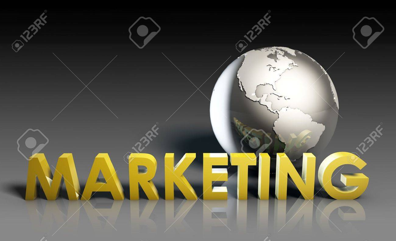 Global Marketing Strategy Campaign as a Art Stock Photo - 6684155