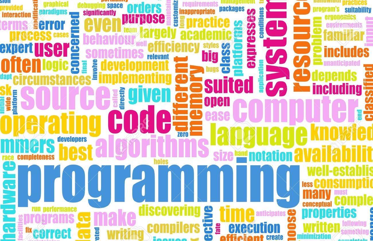 Computer Programming Code Concept as a Abstract Stock Photo - 6732897