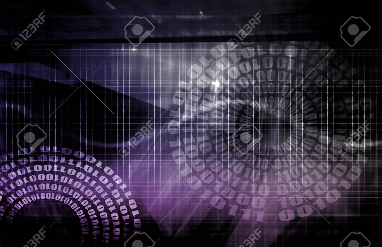 Data Network with Fast Moving Data Packets Stock Photo - 6780224