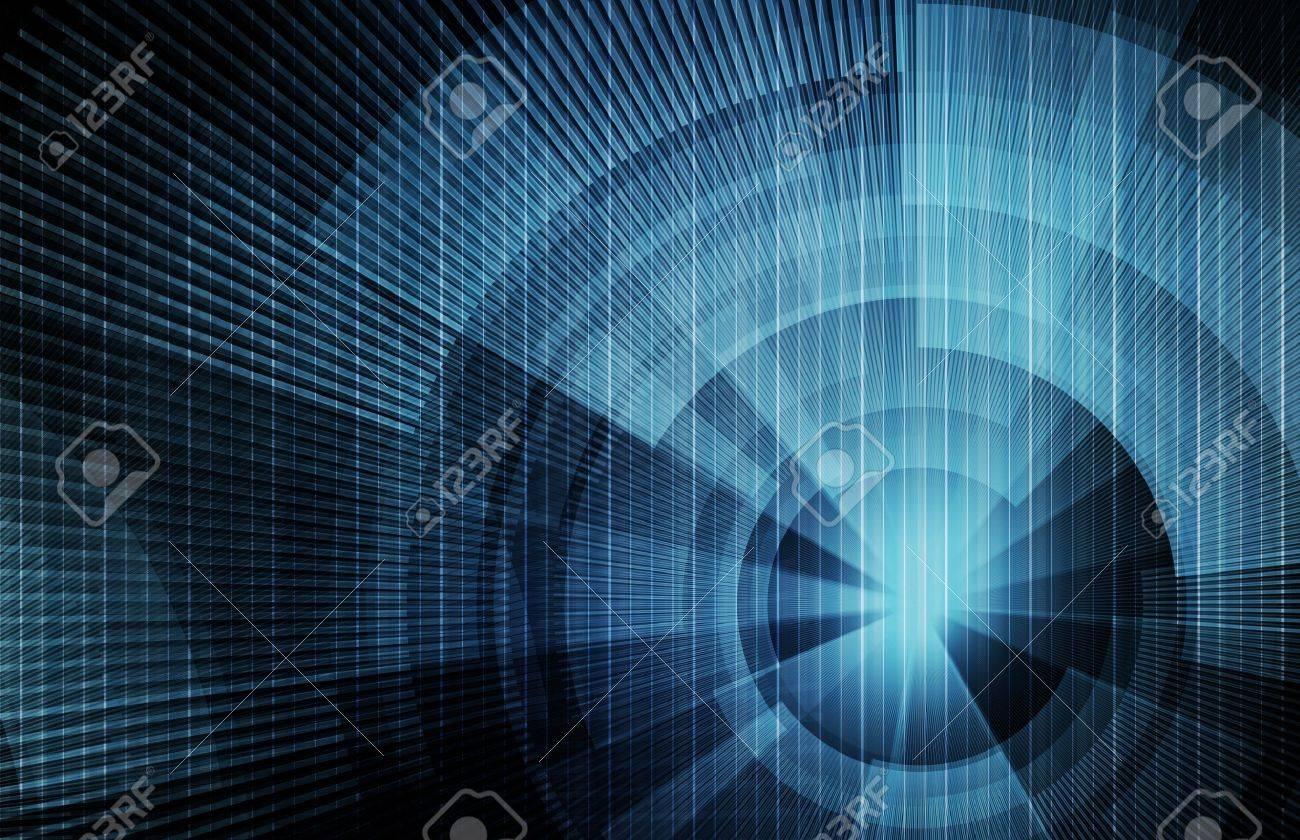 Technology Concept Background with a Science Art Stock Photo - 6841508
