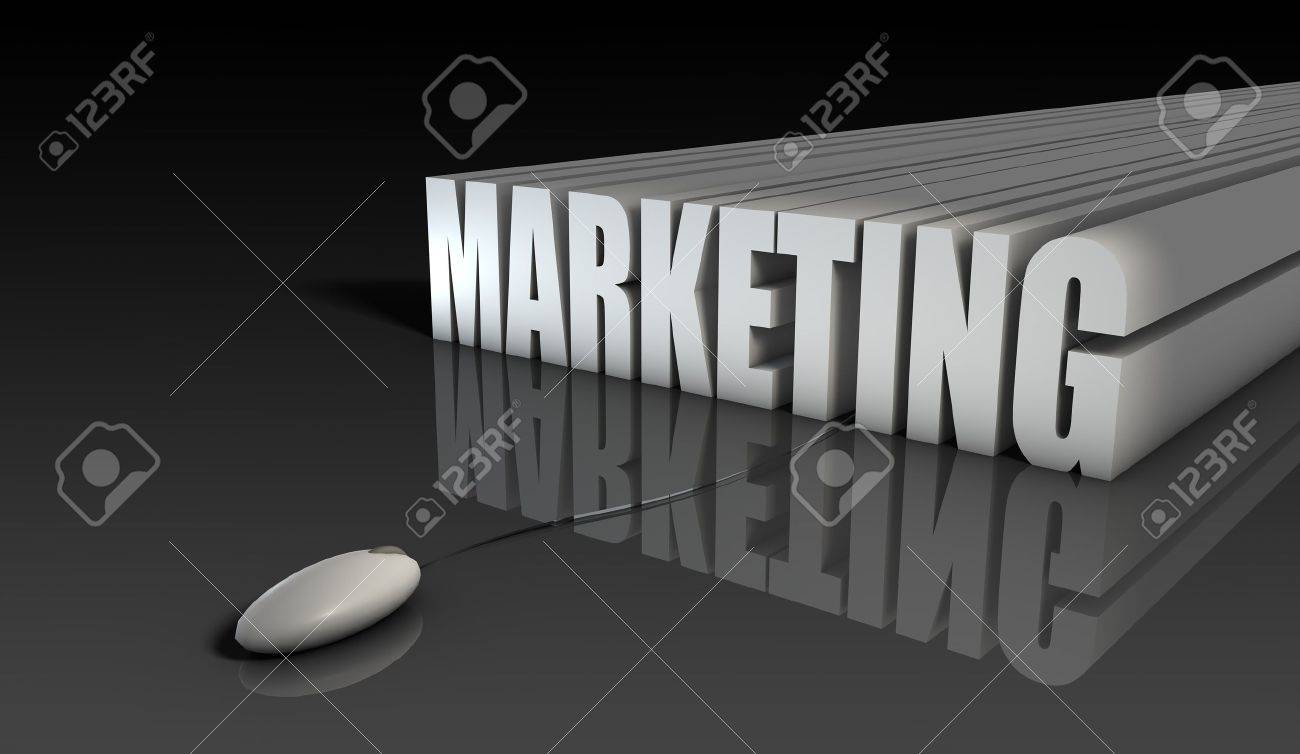 Internet Marketing with Mouse in 3d Abstract Stock Photo - 6841495