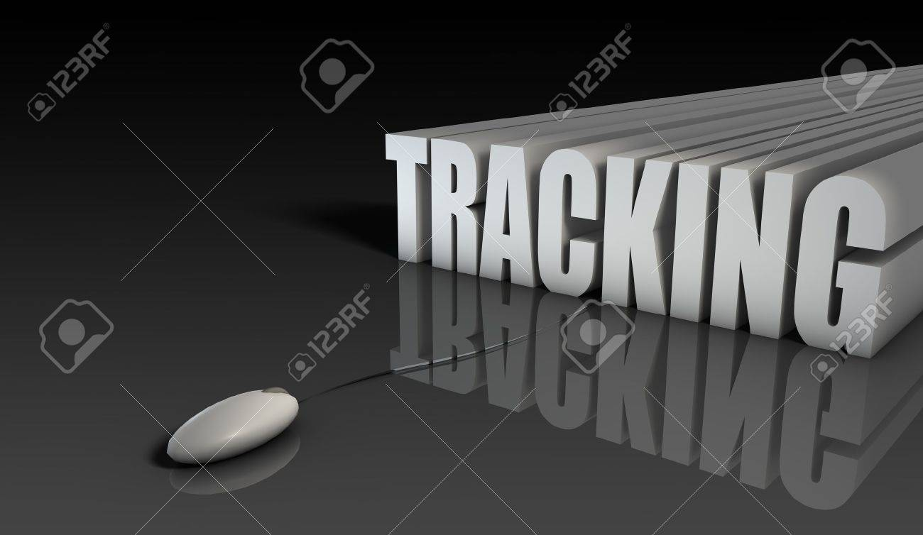 online tracking system of sales purchase in 3d stock photo picture