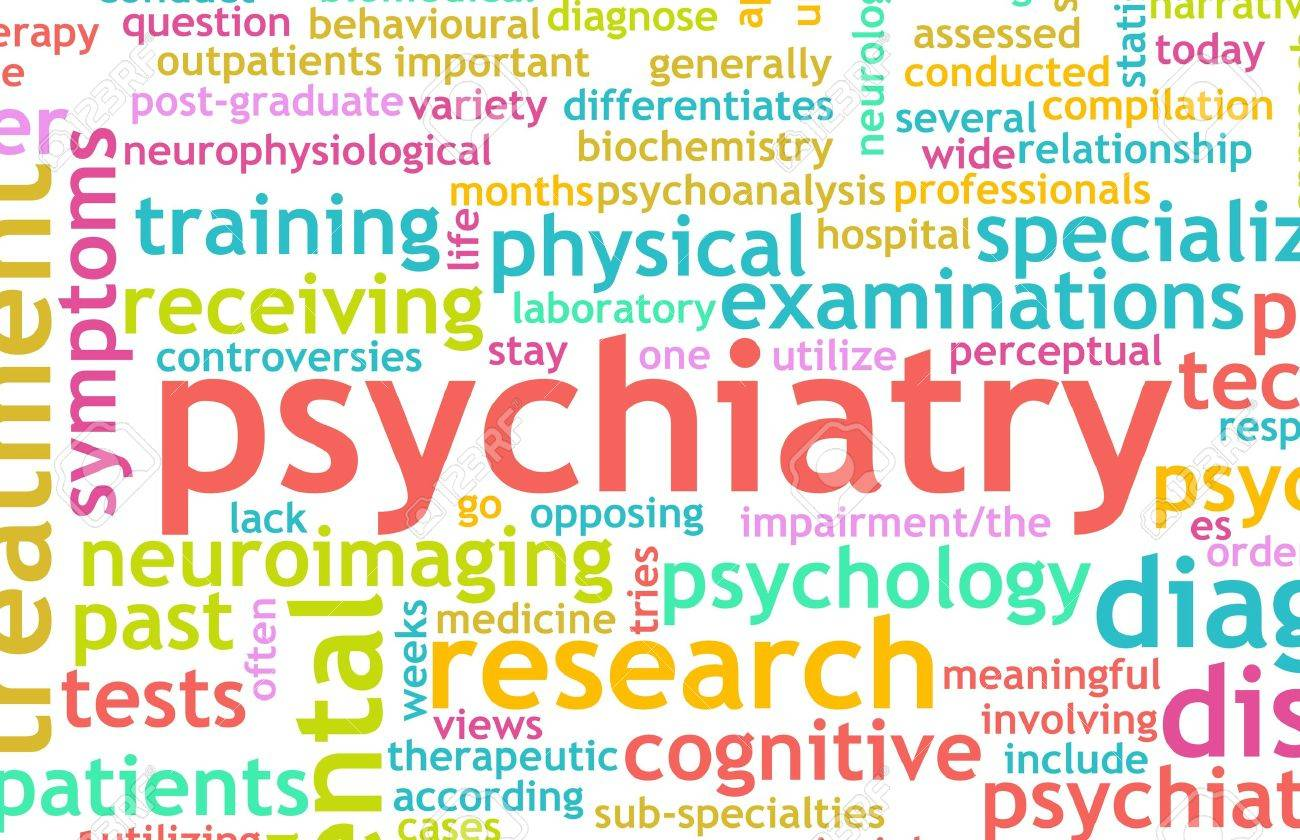Psychiatry Focus on Mental Illness As Concept Stock Photo - 6856722