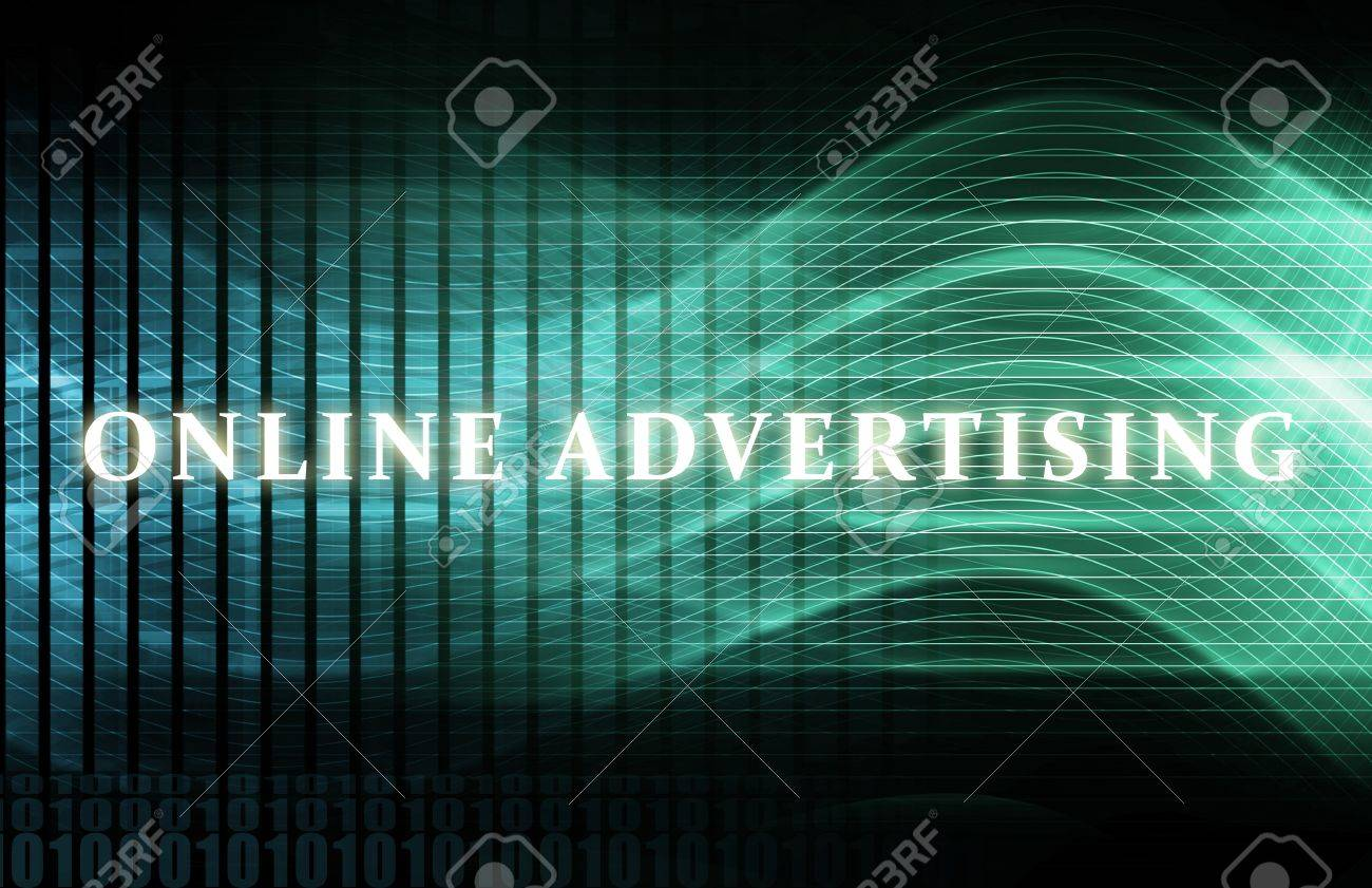 Online Advertising as a Concept Background Art Stock Photo - 6856739