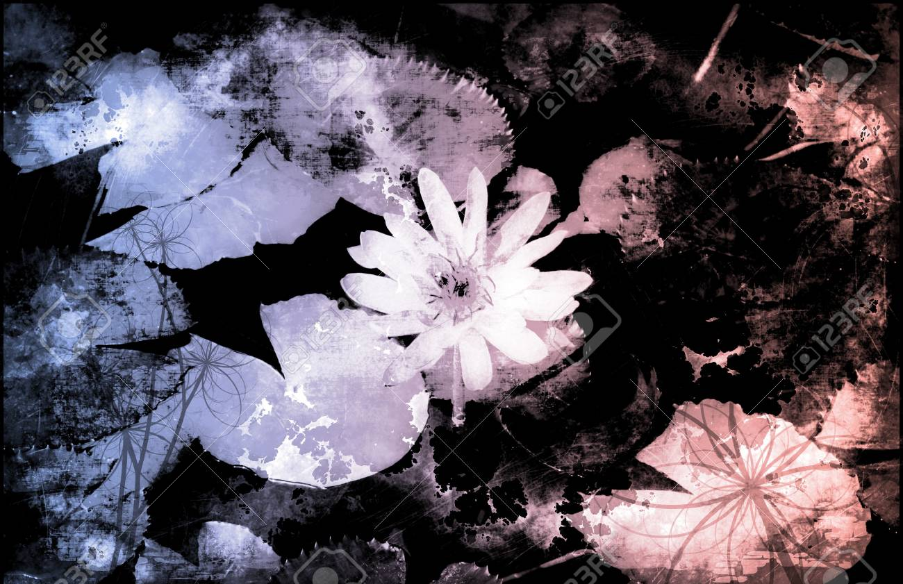 A Grunge Floral Decor Old Texture Background Stock Photo - 6940729