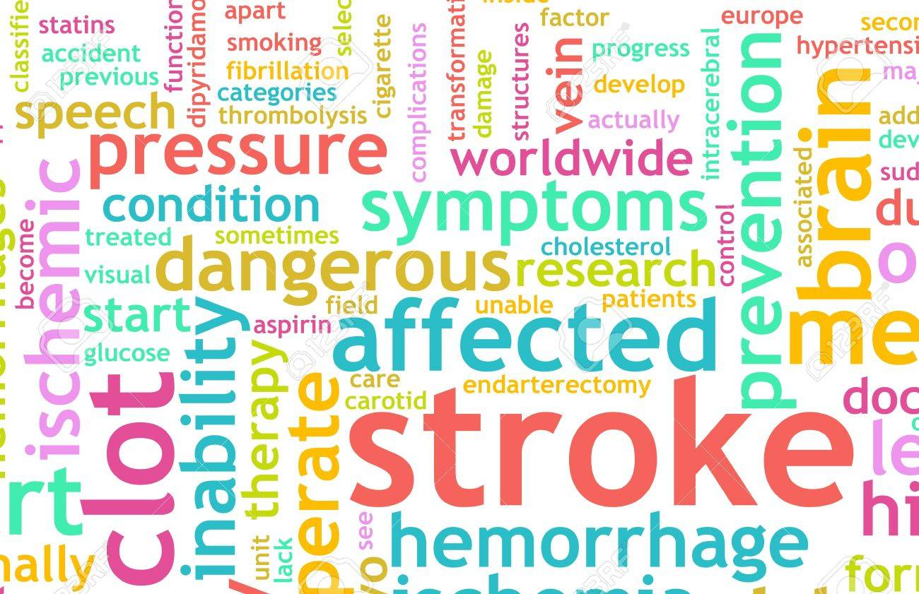 Stroke Medical Concept of Early Warning Signs Stock Photo - 6955671