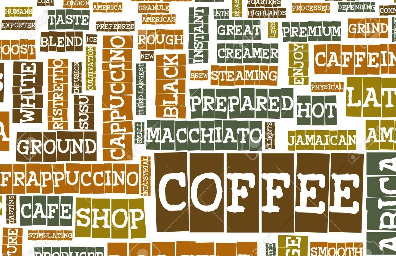 Coffee Menu Choices as a Creative Background Stock Photo - 7004203