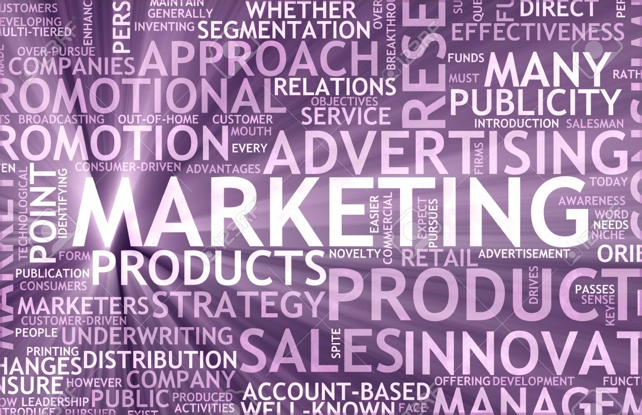 Marketing Background as Art with Related Terms Stock Photo - 7004204