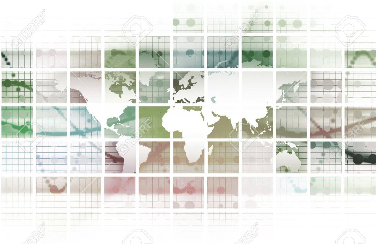 Global Network Concept as a Illustration Art Stock Photo - 7074706