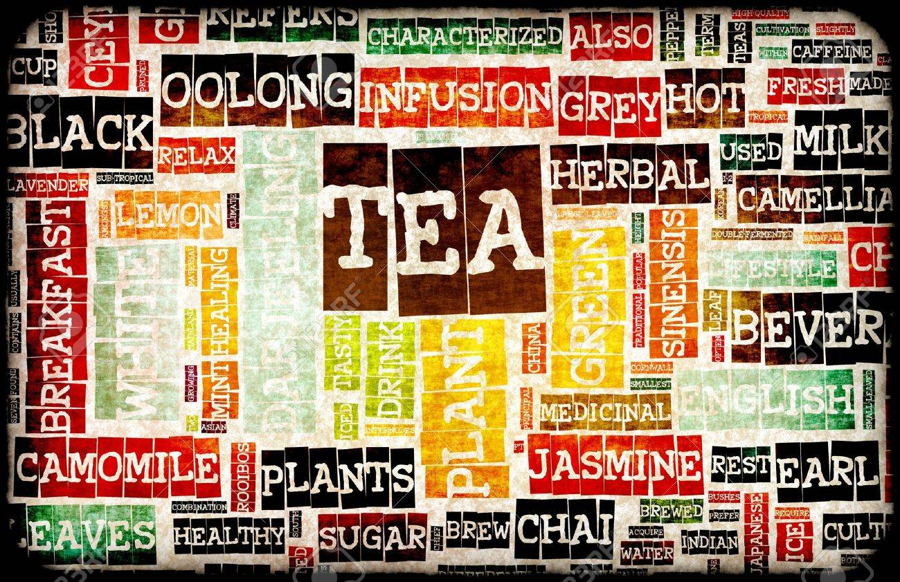 Assorted Teas Menu as a Food Drink Background Stock Photo - 7119826