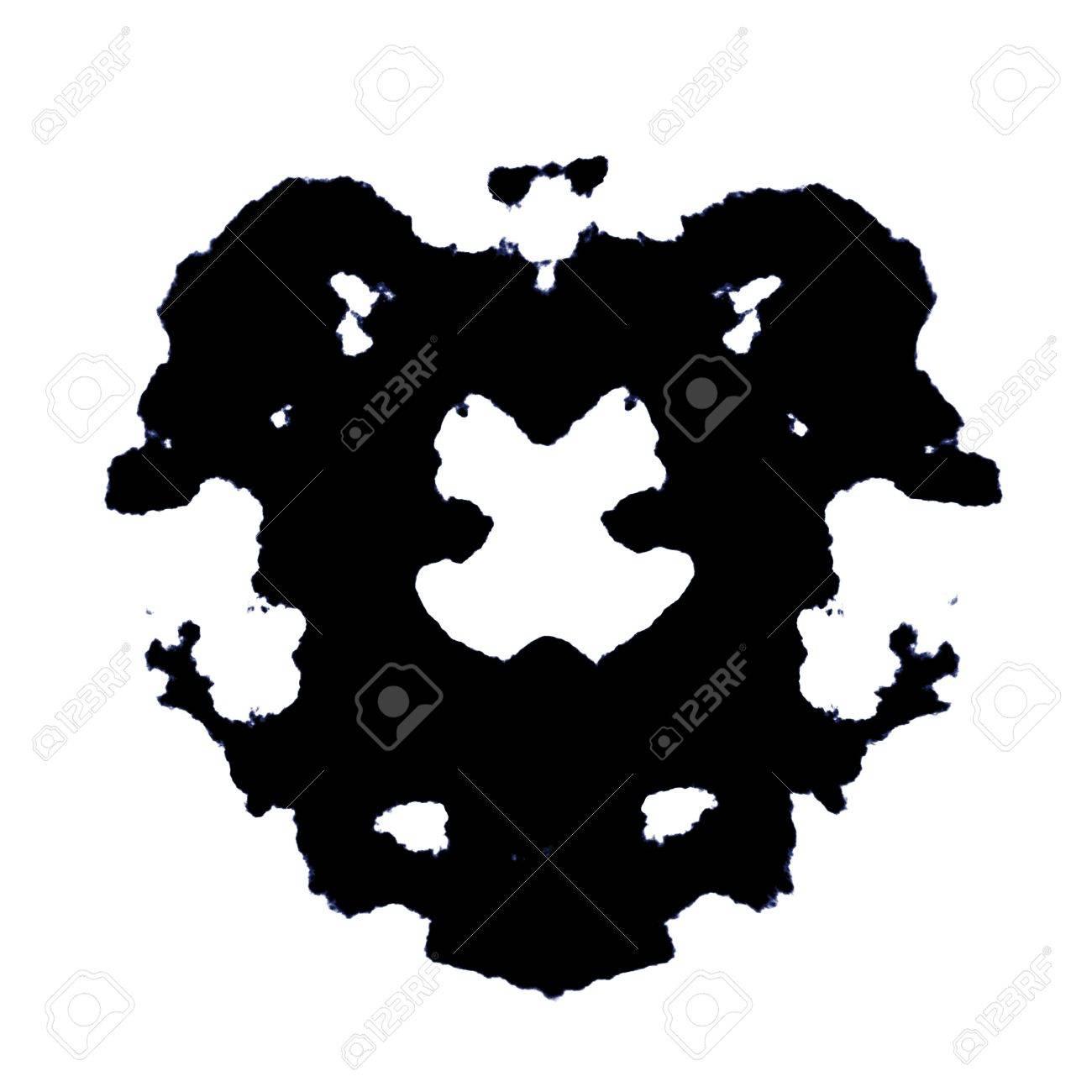 Rorschach Test of an Ink Blot Card Stock Photo - 7286636