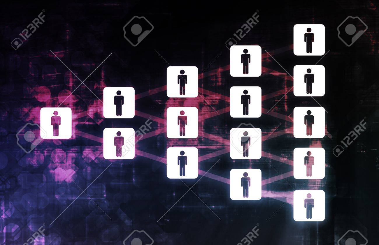 Connected People Friends as a Diagram Illustration Stock Illustration - 7312828