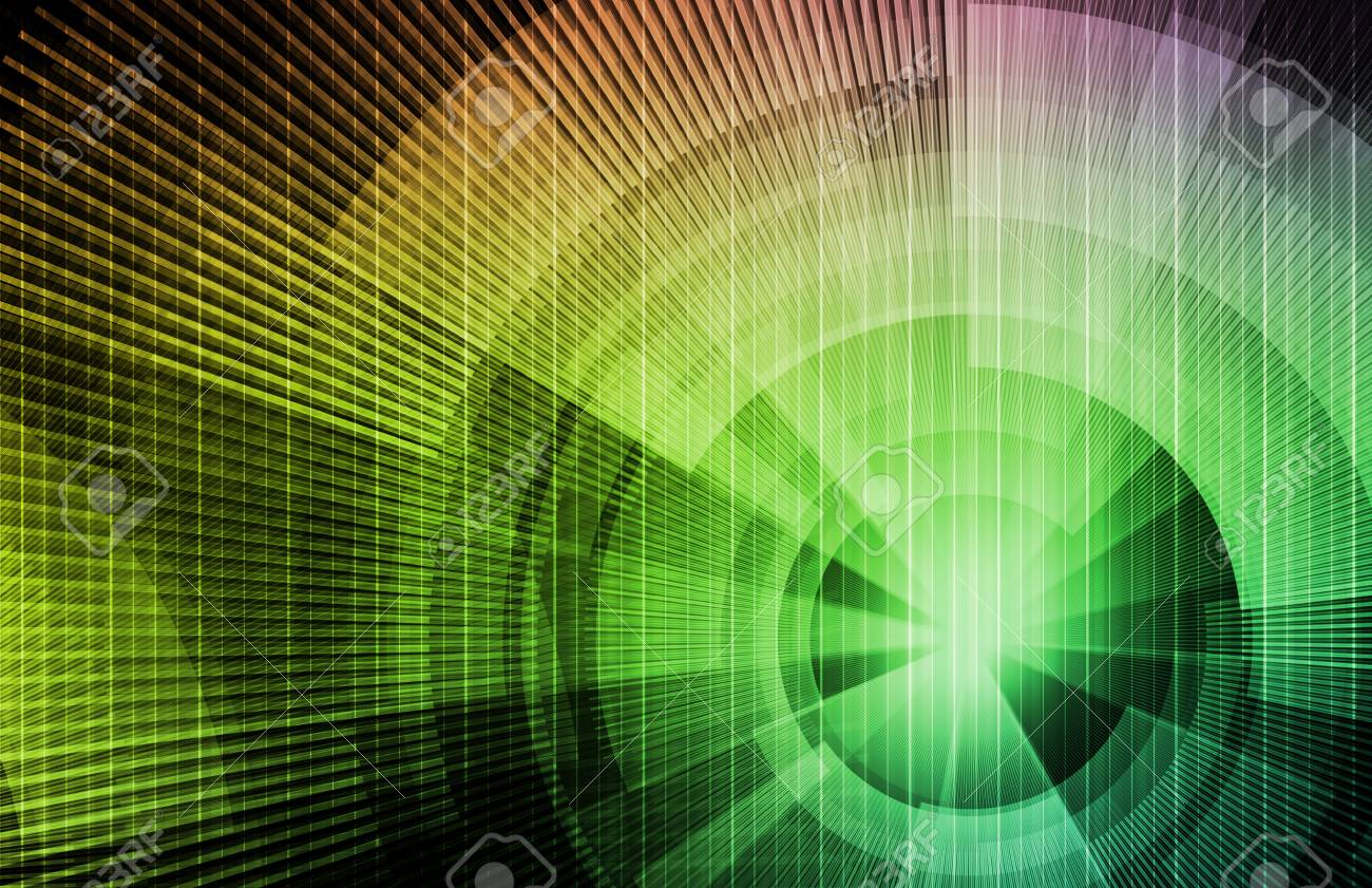 Technology Concept Background with a Science Art Stock Photo - 7312915