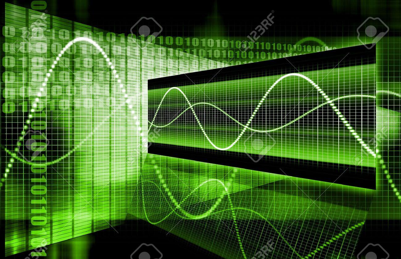 A Green Sales Market Analysis Illustration Photo – Stock Market Analysis