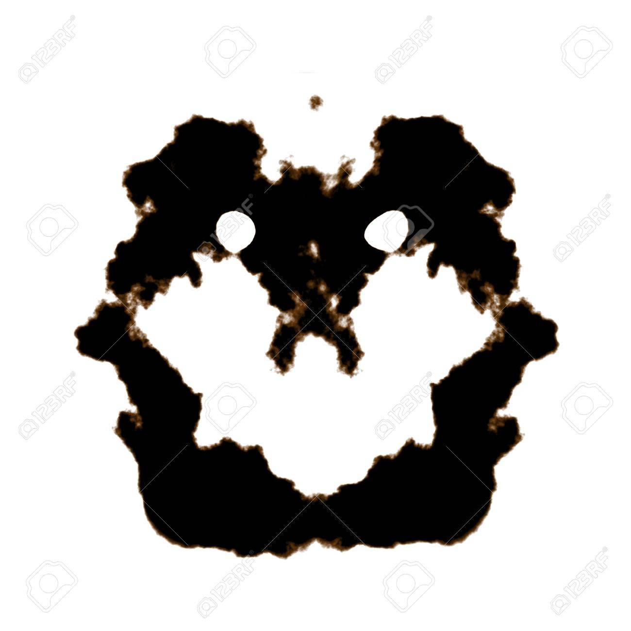 Rorschach Test of an Ink Blot Card Stock Photo - 7330587