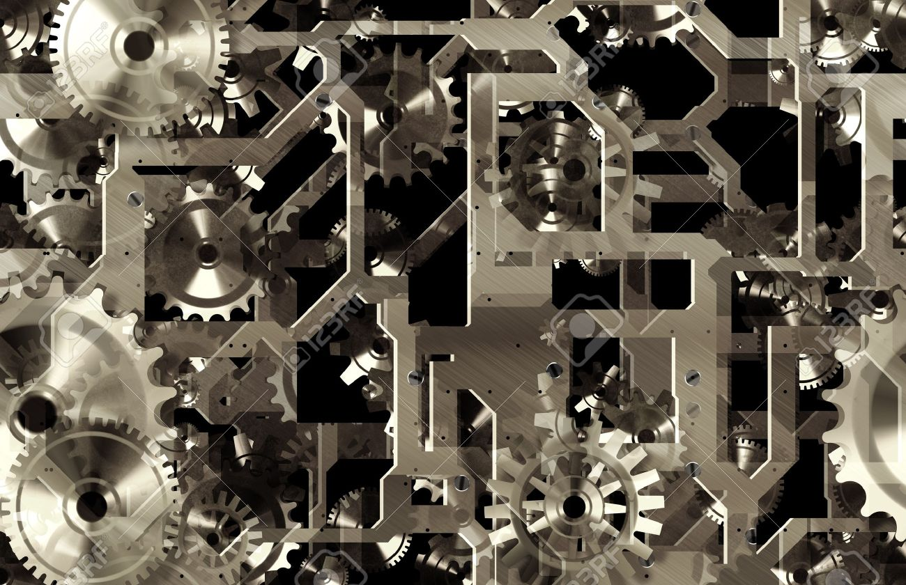 Mechanical Gears Background as a Engineering Art Stock Photo - 7382039