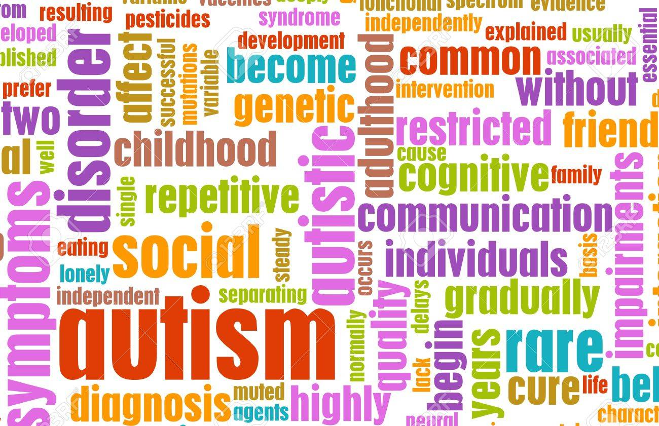 Autism Concept as a Medical Condition Background Stock Photo - 7382082