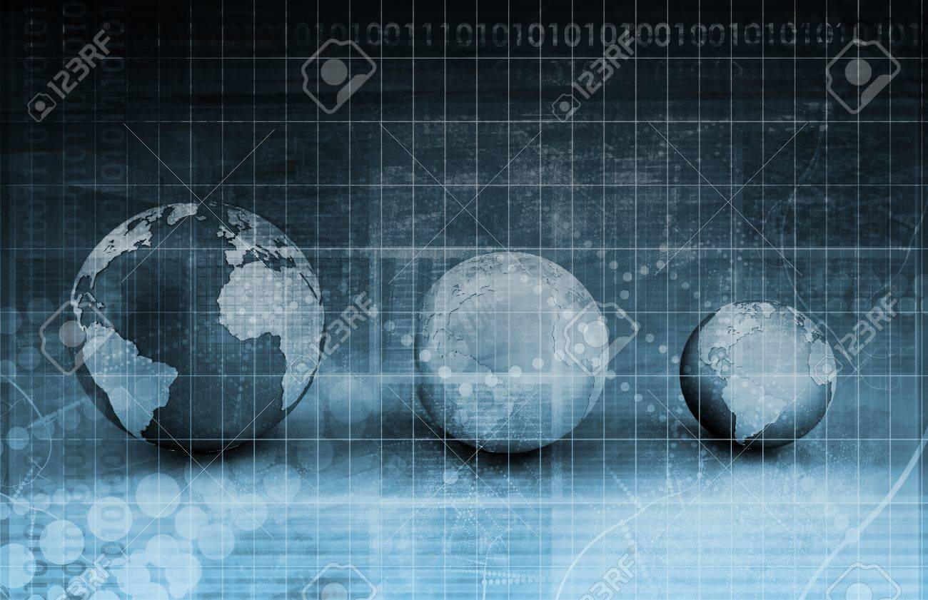Security Network Data of the World Background Stock Photo - 7635751