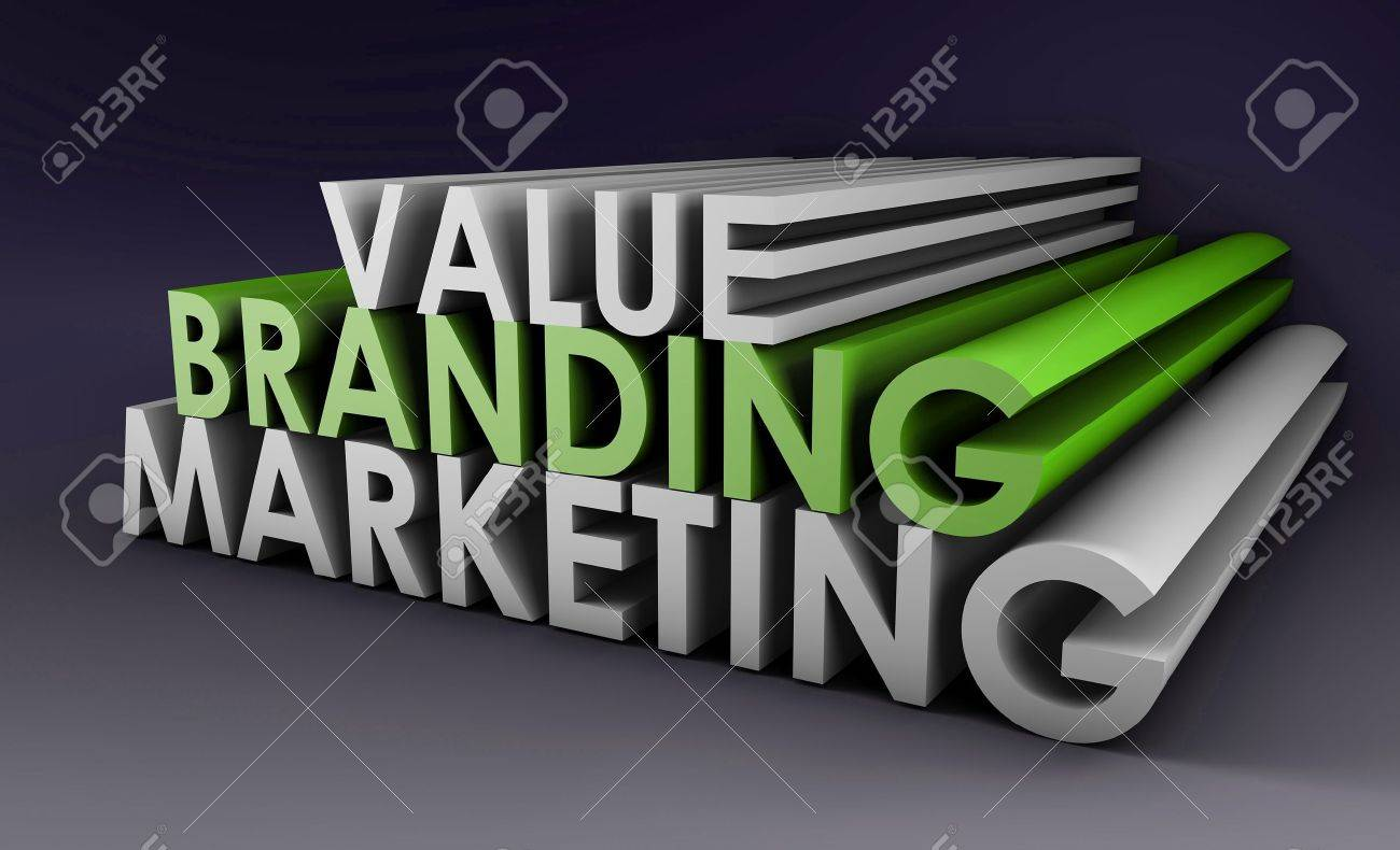 Branding and Marketing of a Product in 3D Format Stock Photo - 8663417