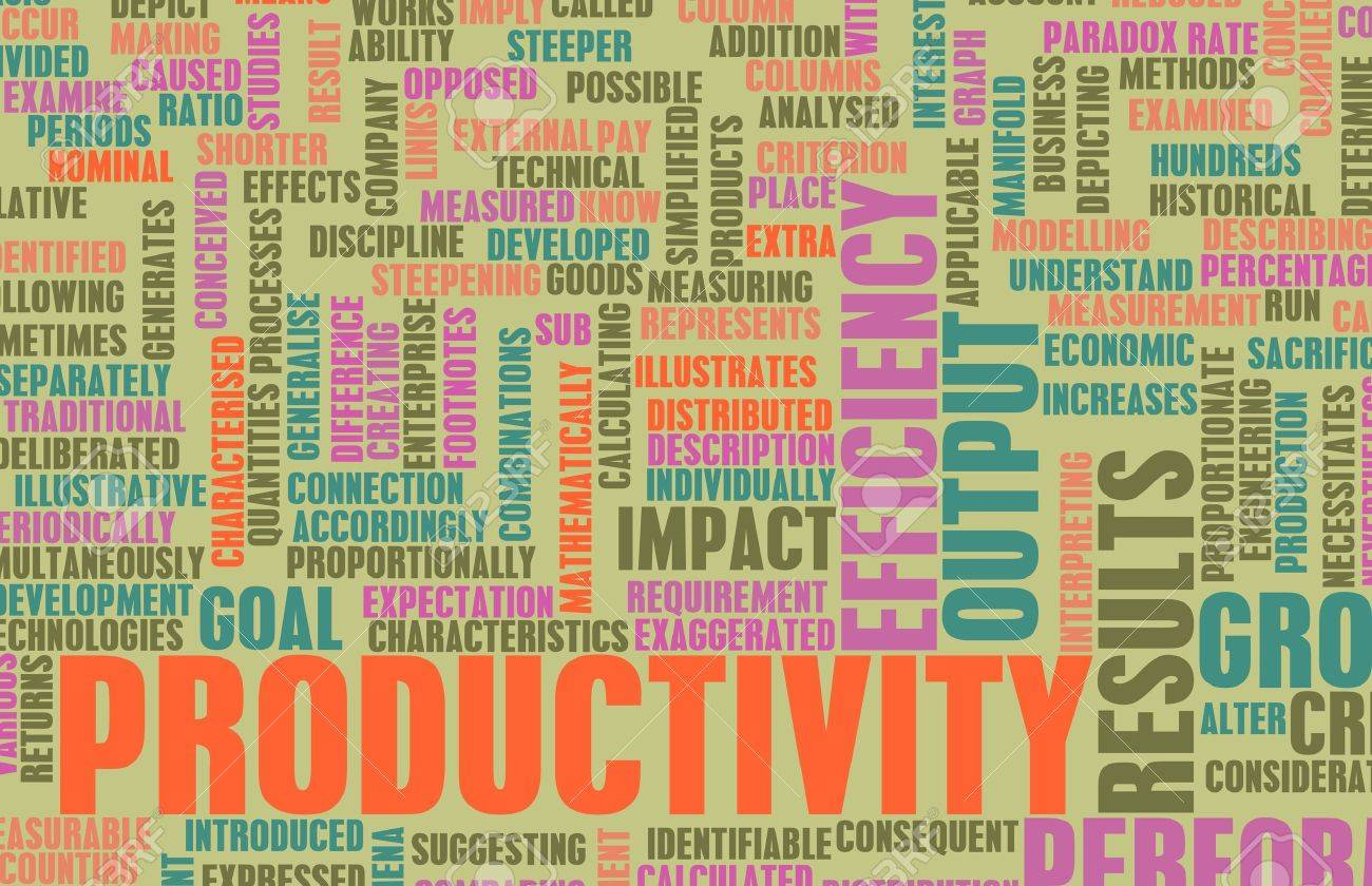 Enhancing Productivity In The Business Office Art Stock Photo ...