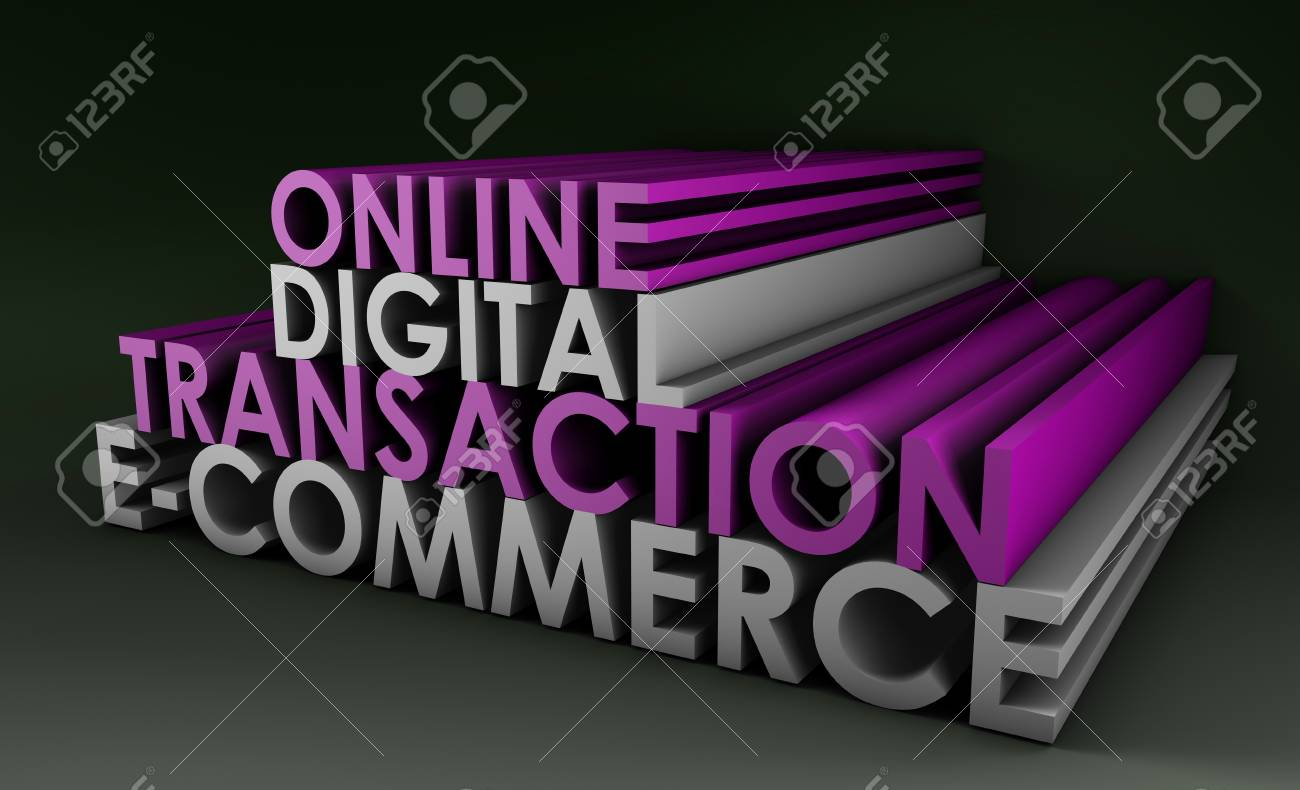 Online Digital Transaction in a E-Commerce Site Stock Photo - 8845552