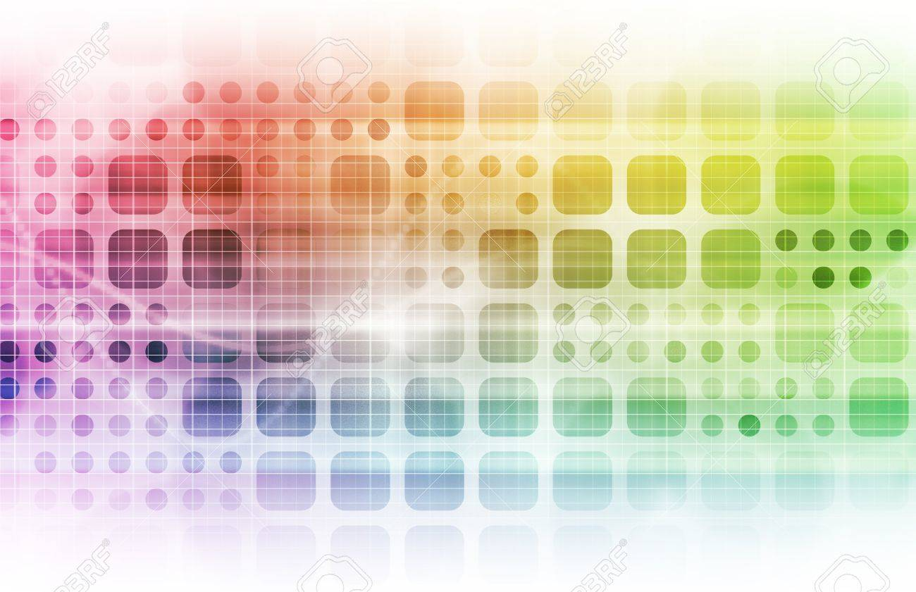 Technology Network with a Data Grid System Stock Photo - 8971295