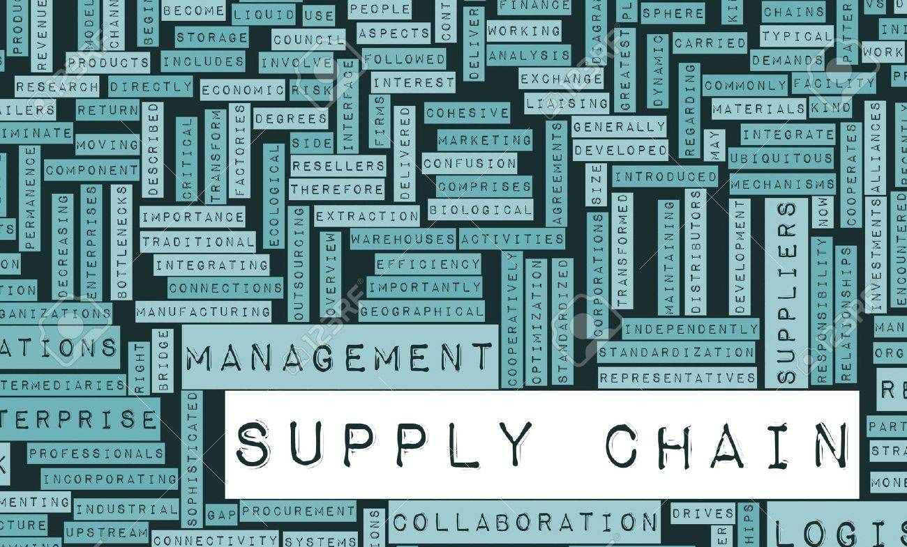 Supply Chain Management Processes As a Concept Stock Photo - 8983243