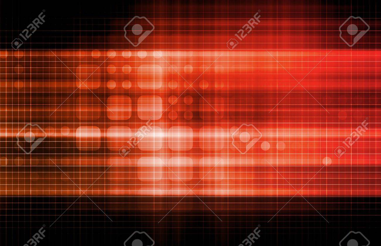 Technology Network with a Data Grid System Stock Photo - 9148041