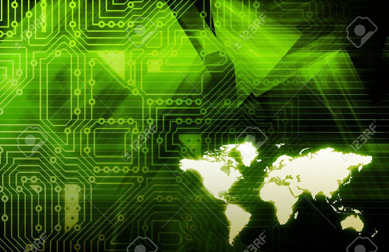 Internet World Wide Web Abstract Tech Background Stock Photo - 9148052