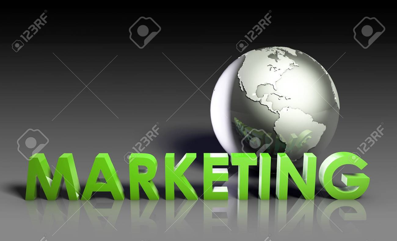 Global Marketing Strategy Campaign as a Art Stock Photo - 9300971