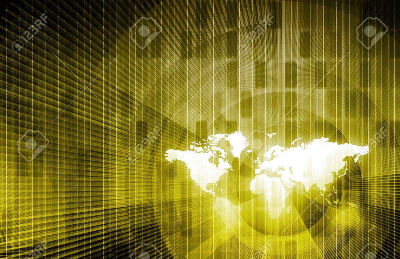 Security Network Data of the World Background Stock Photo - 9339039