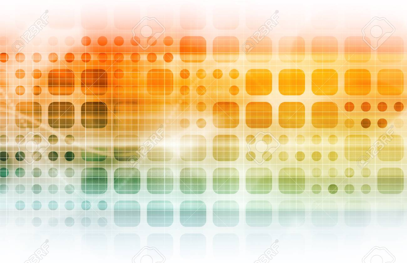 Technology Network with a Data Grid System Stock Photo - 9388264
