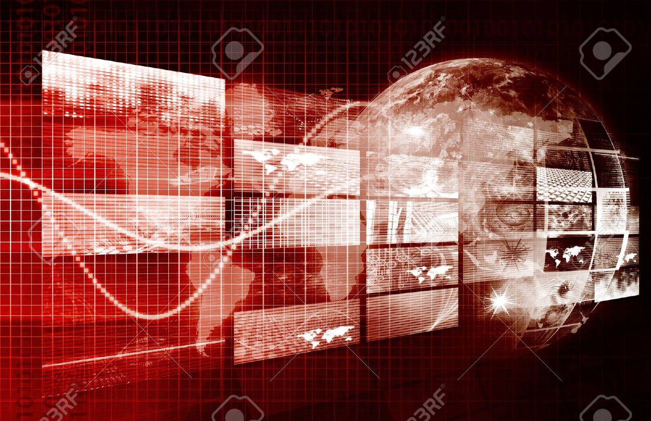 Security Network and Monitoring Data on the Web Stock Photo - 9388299