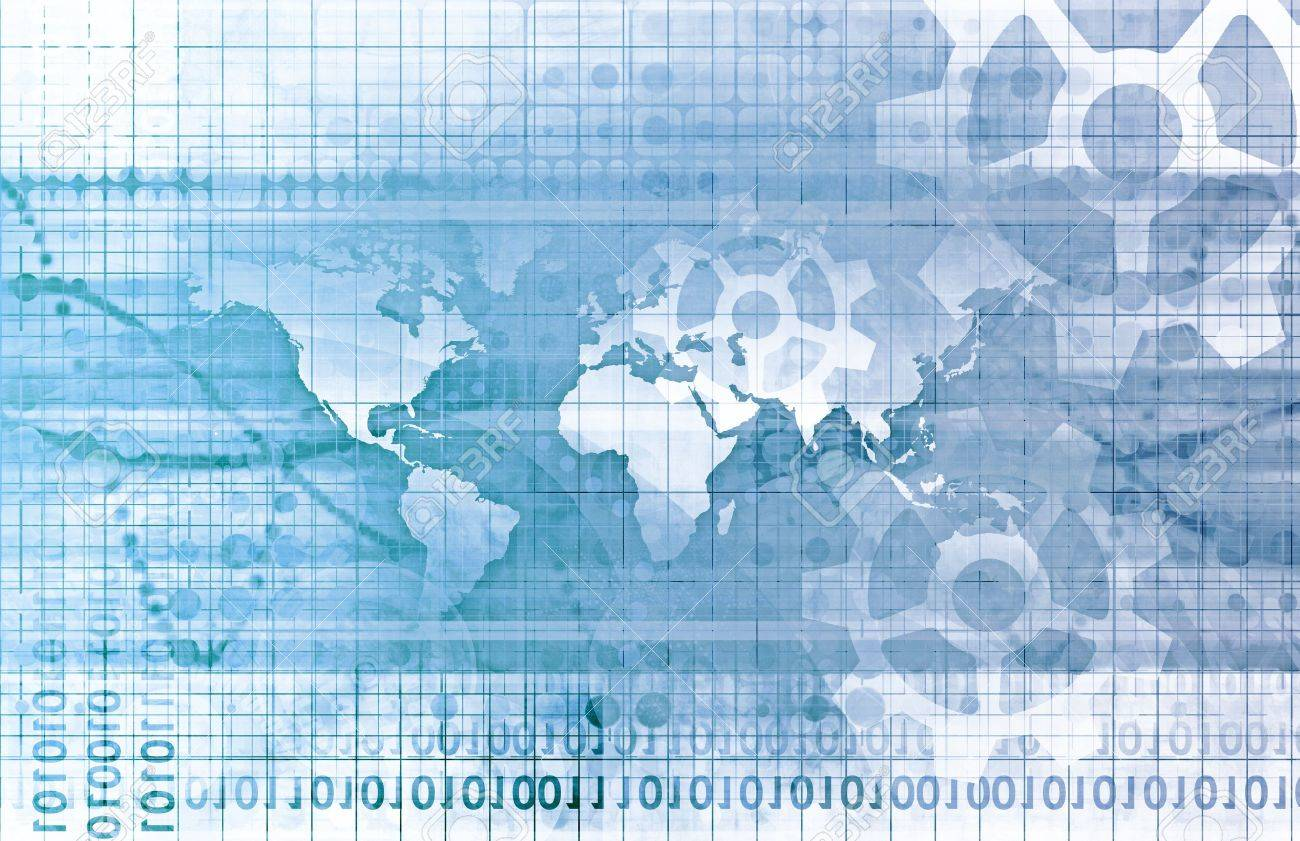 Global Network Concept as a Illustration Art Stock Illustration - 9418244