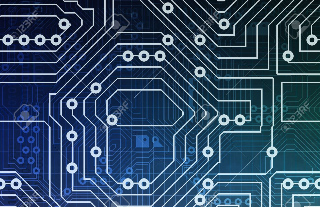 Computer Circuits Background Texture As A Design Stock Photo ...