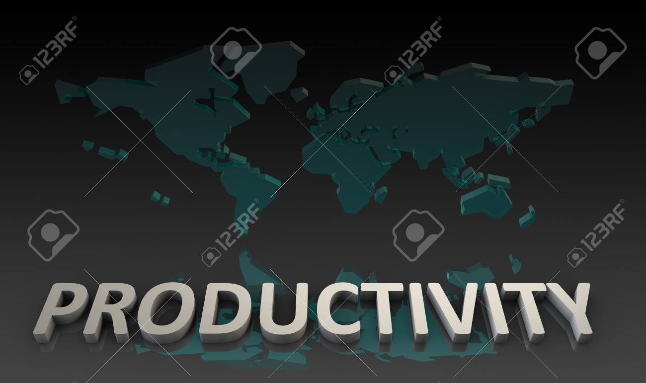 Productivity and Global Output Worldwide in 3d Stock Photo - 9543768