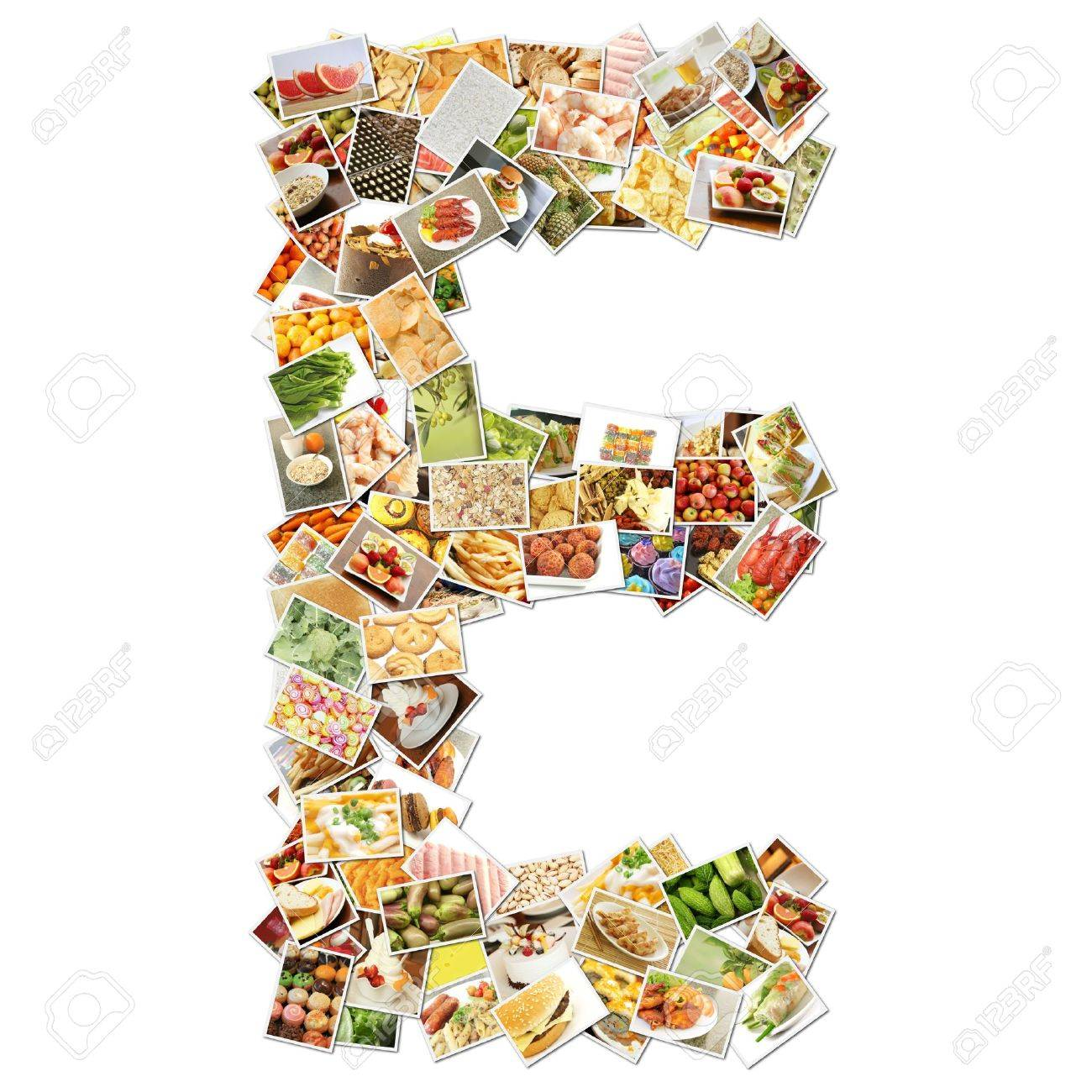 letter e food collage concept art stock photo picture and letter e food collage concept art stock photo 9691840