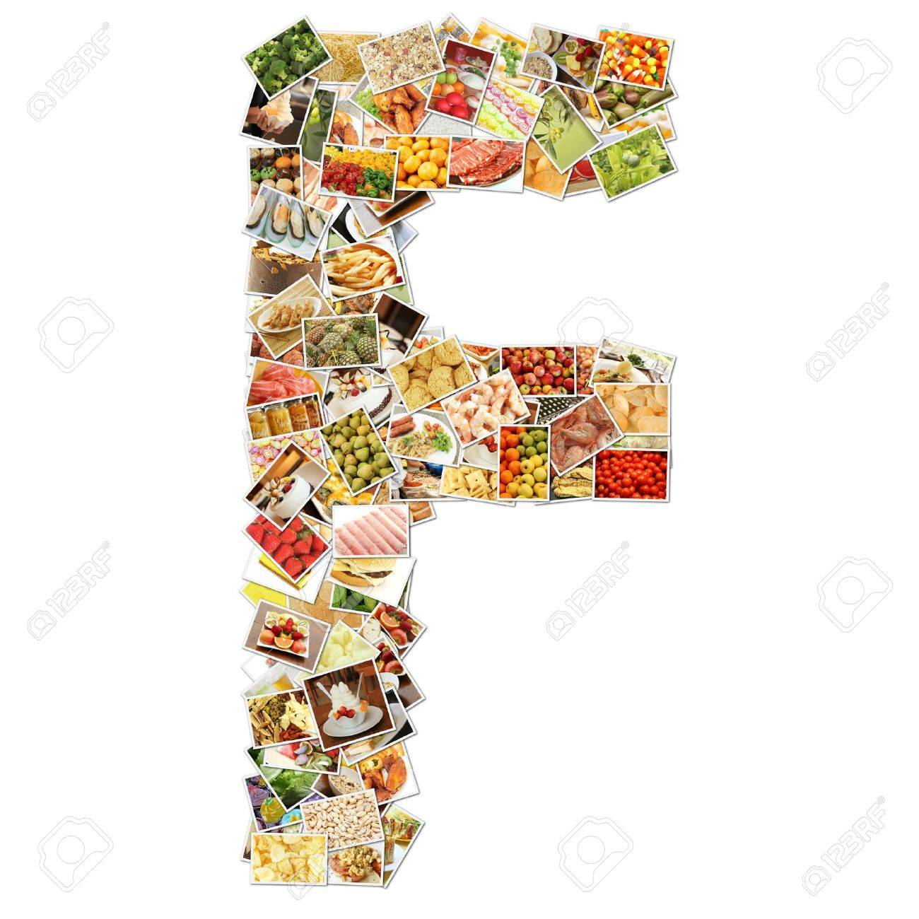 letter f food collage concept art stock photo picture and letter f food collage concept art stock photo 9691835