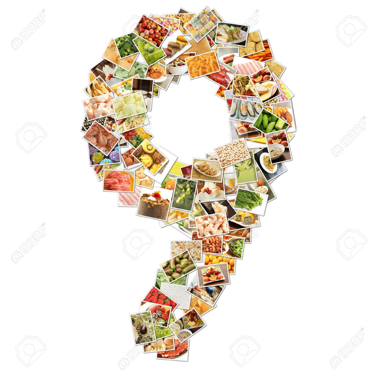 number 9 nine with food collage concept art stock photo 9704295