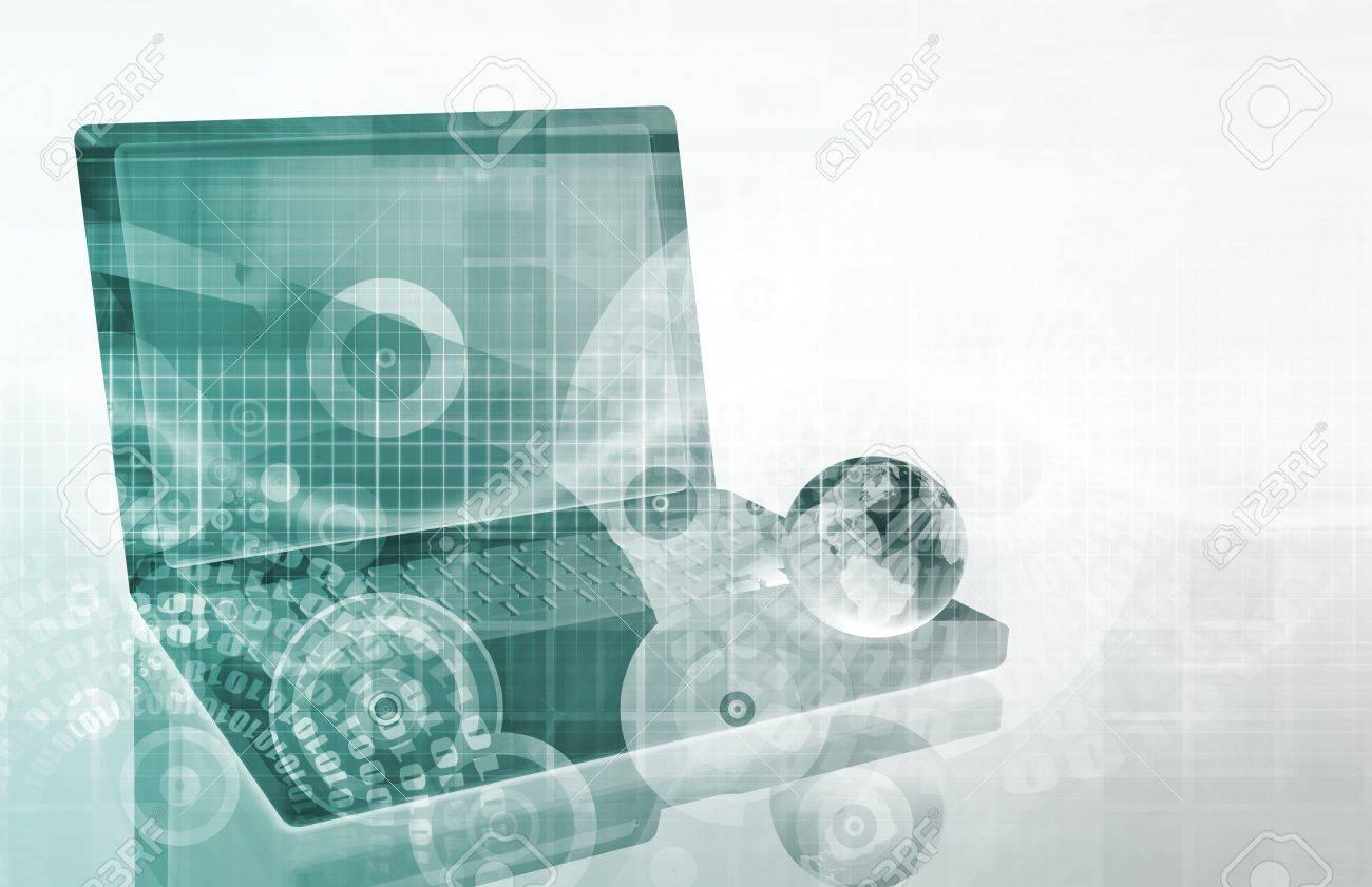 A Tech Futuristic Business Chart Abstract Art Stock Photo - 9751047