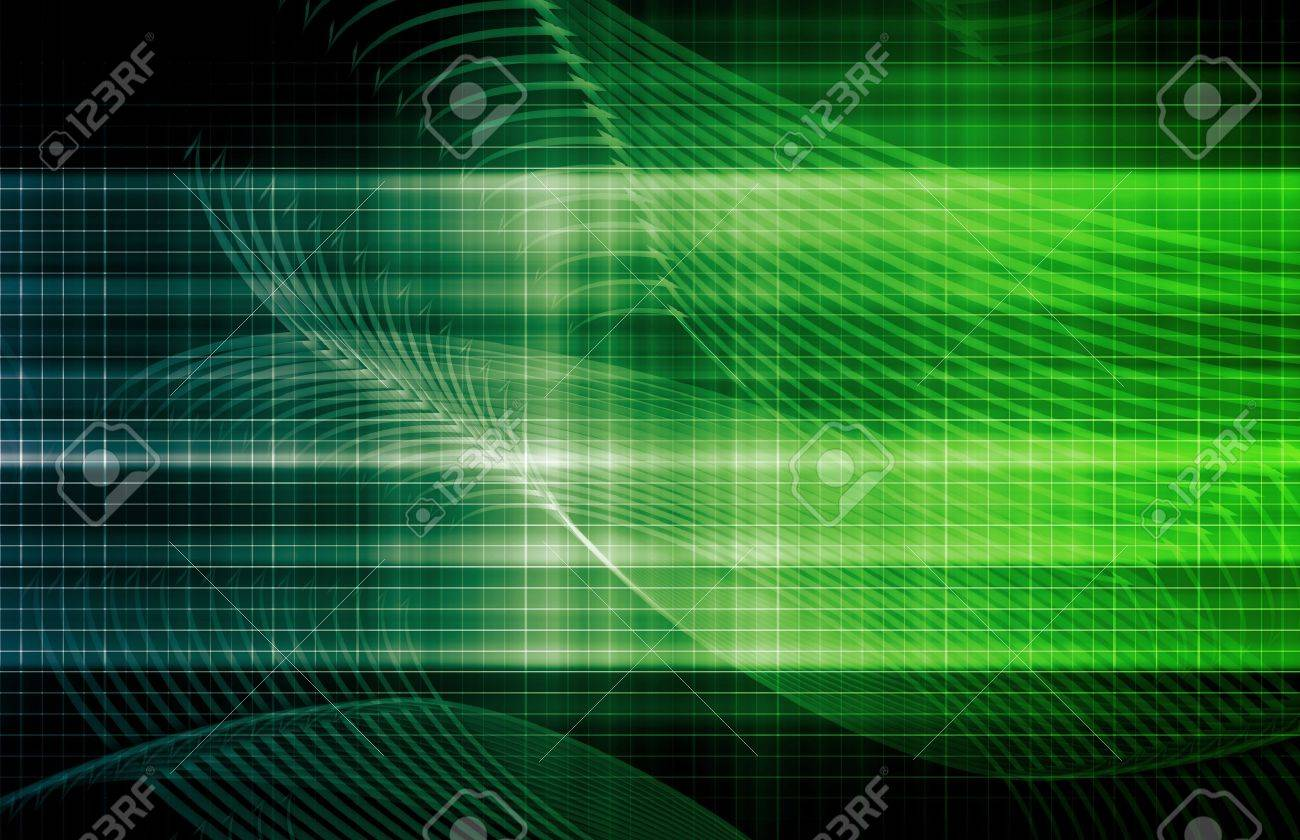 Media Communication on the Internet with Data Art Stock Photo - 9884309