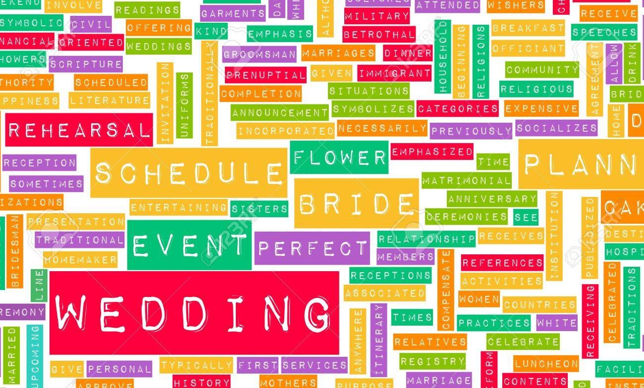 Hochzeit Planen Und Ihre Grosse Event Planer Liste Lizenzfreie Fotos