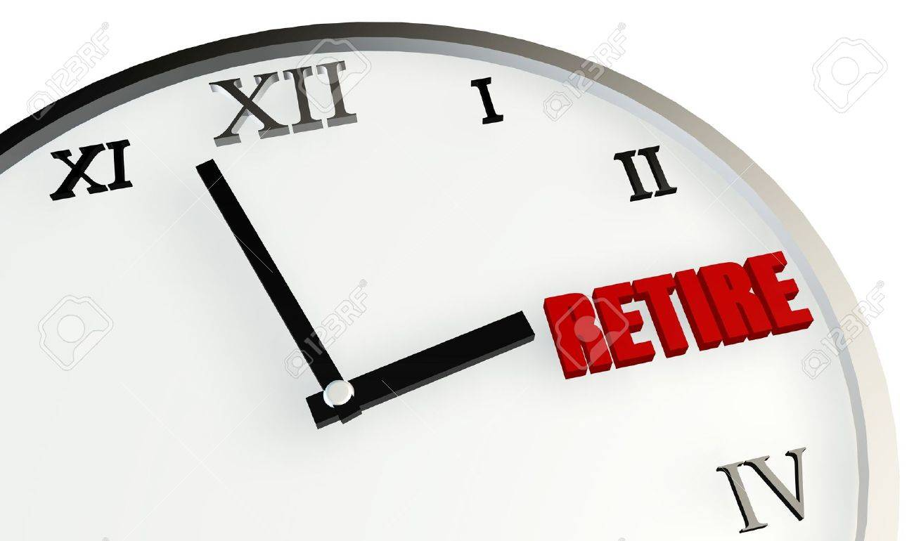 Retirement Time Coming Soon and Planning on Clock - 9976109