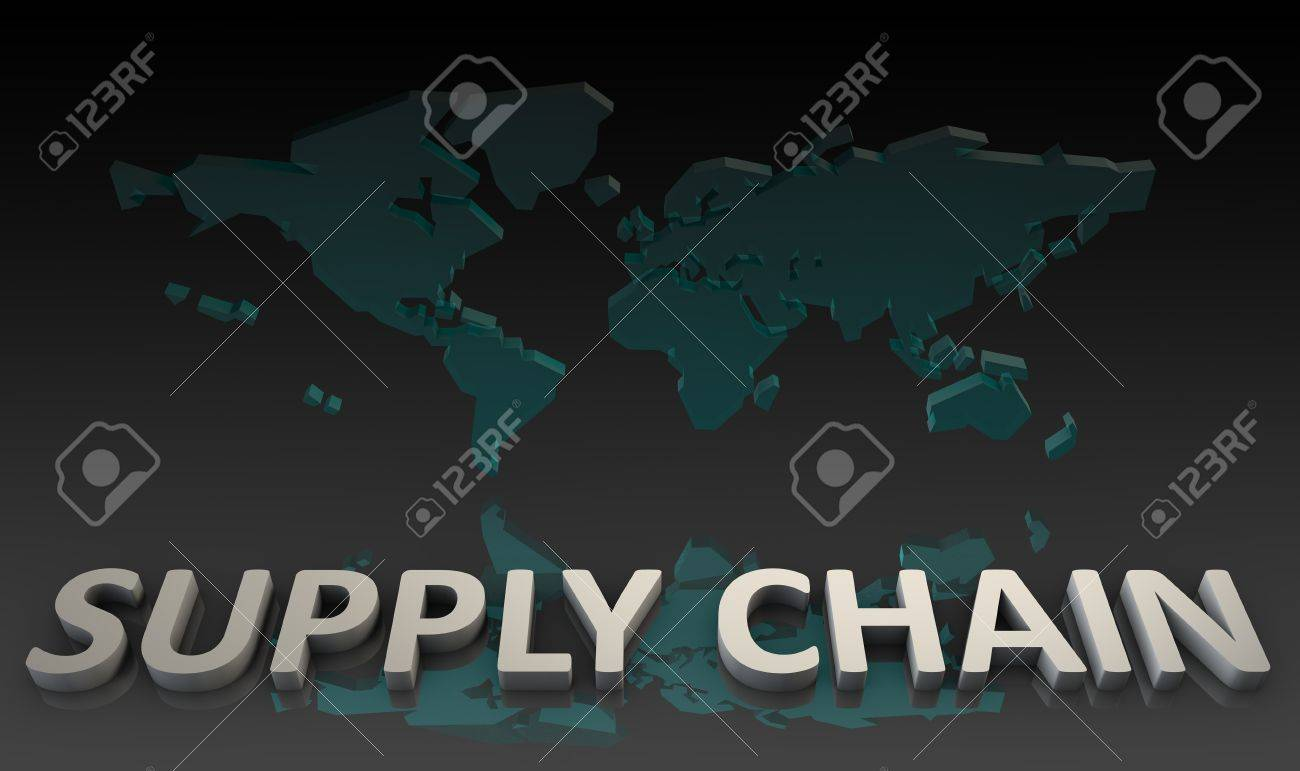 Supply Chain Management Processes As a Concept Stock Photo - 10231755