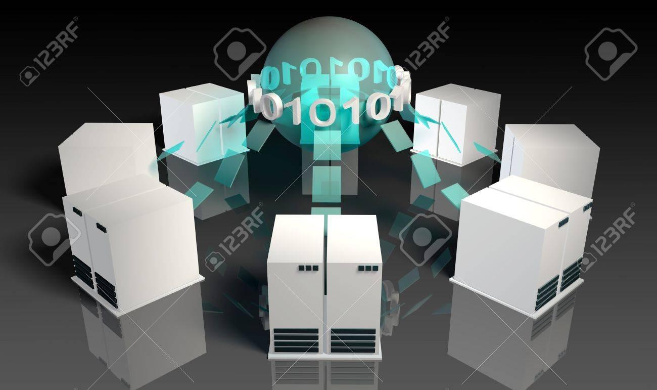 Social Media Servers System on the Internet Stock Photo - 10231756