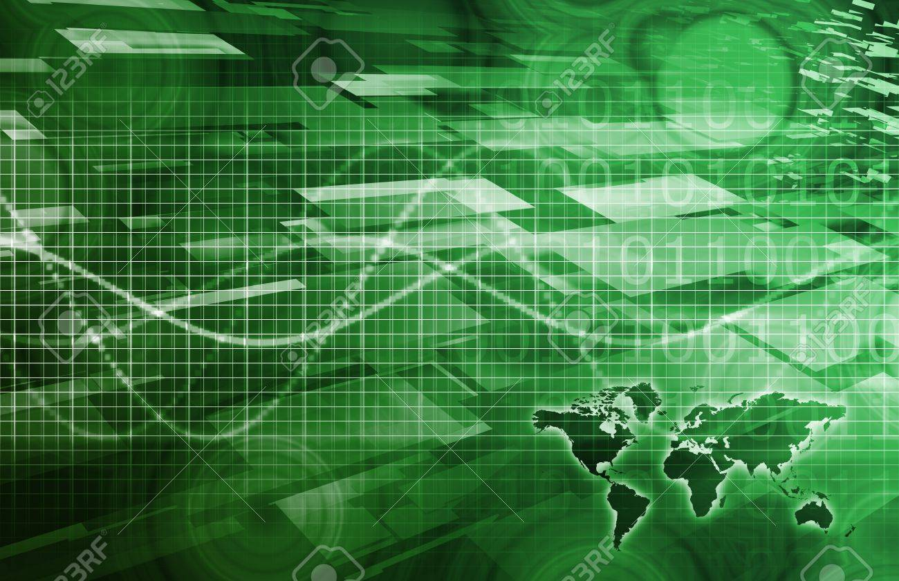 Latest Technology Around the World as Art Stock Photo - 10616873