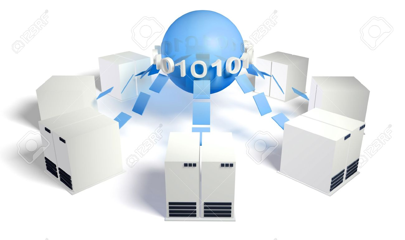 Database Server Management System With Central DB Stock Photo - 10616864